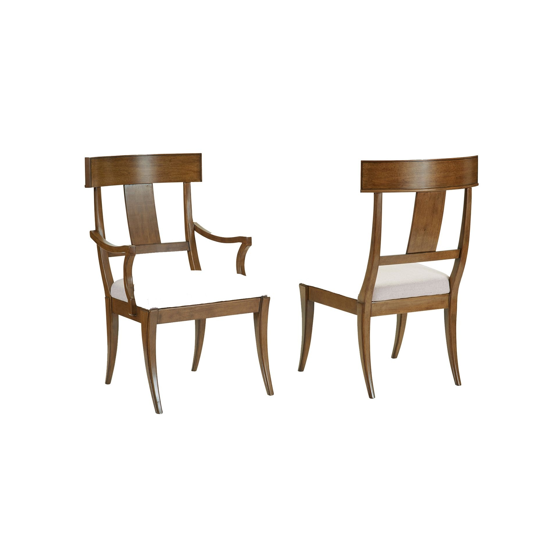 Henredon Furniture Acquisitions By Henredon Klismos Arm Chair 3403 27 689