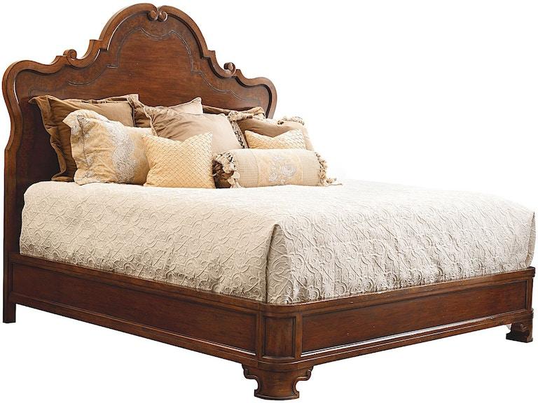 Henredon Furniture 4405-12HF / 4405-12R Bedroom Castellina King Wood Bed