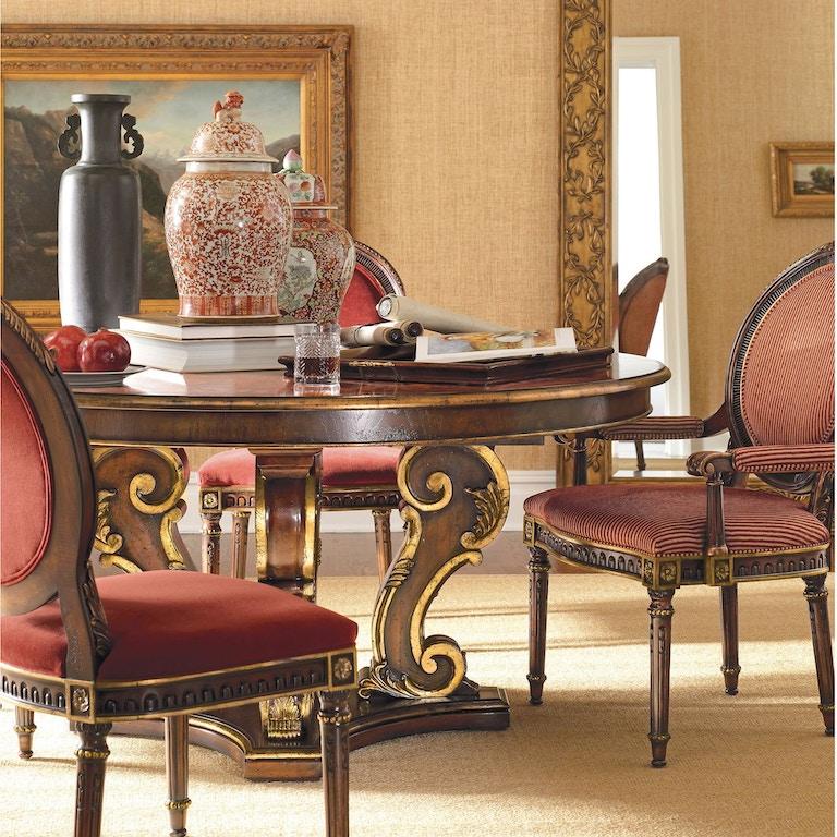 Henredon Furniture 4502-20B / 4502-20T Dining Room Arabesque Dining ...