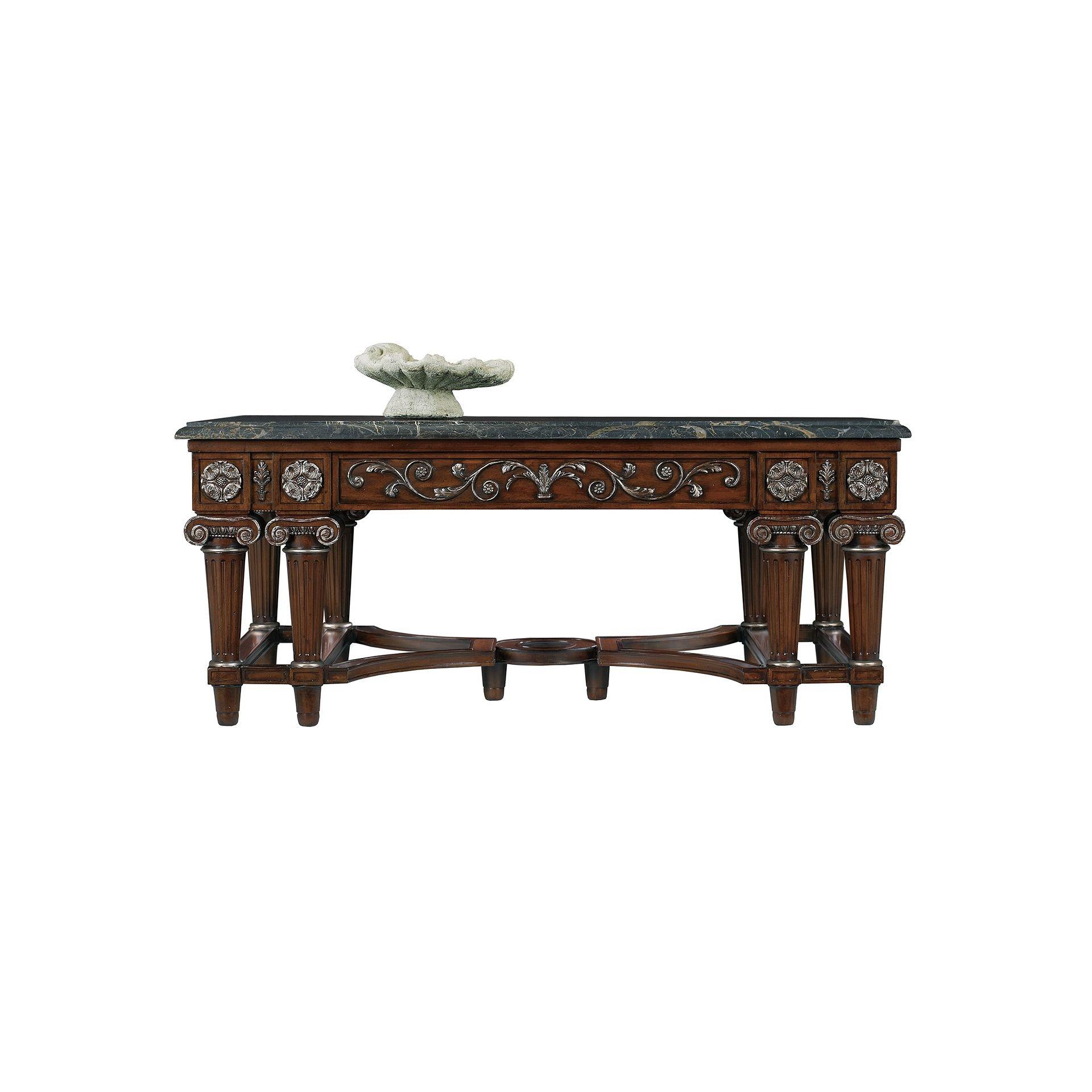 Henredon Furniture Marseilles II Cocktail Table, Marble Top 5041 40B U0026  5041 40M