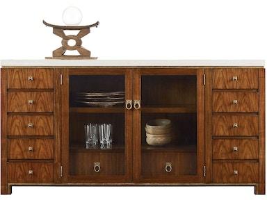 Henredon Furniture Venue Buffet White Agate Stone Top 7100 21