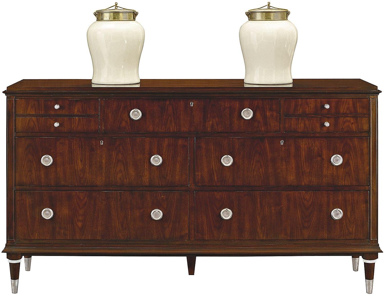 Henredon Furniture 7900-01 Bedroom Scene Six Double Dresser