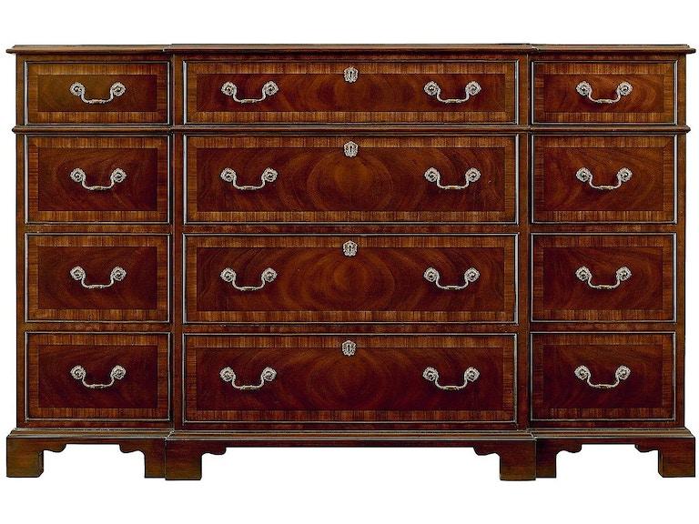 Henredon Furniture 9400-03 Bedroom Oxford Classics Triple Dresser