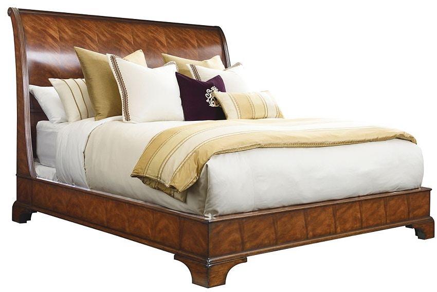 Henredon Furniture Bedroom Aston Court Sleigh Bed 66 King 9600