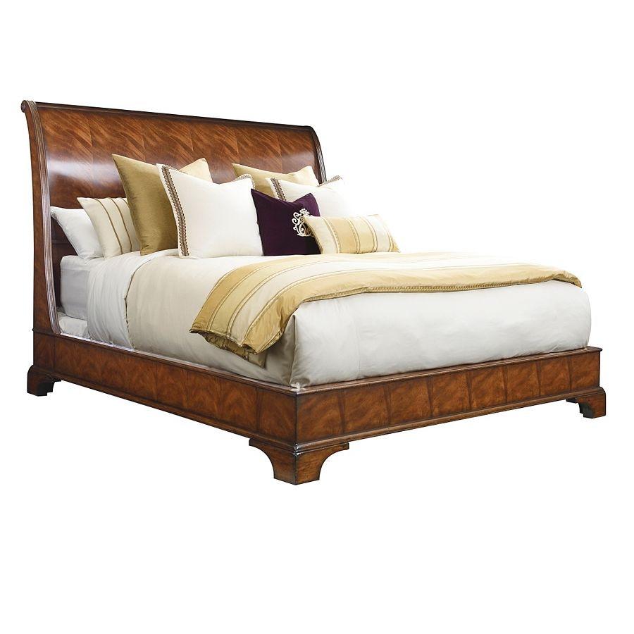 Henredon Furniture Aston Court Sleigh Bed, 6/6 (King) 9600 12HF
