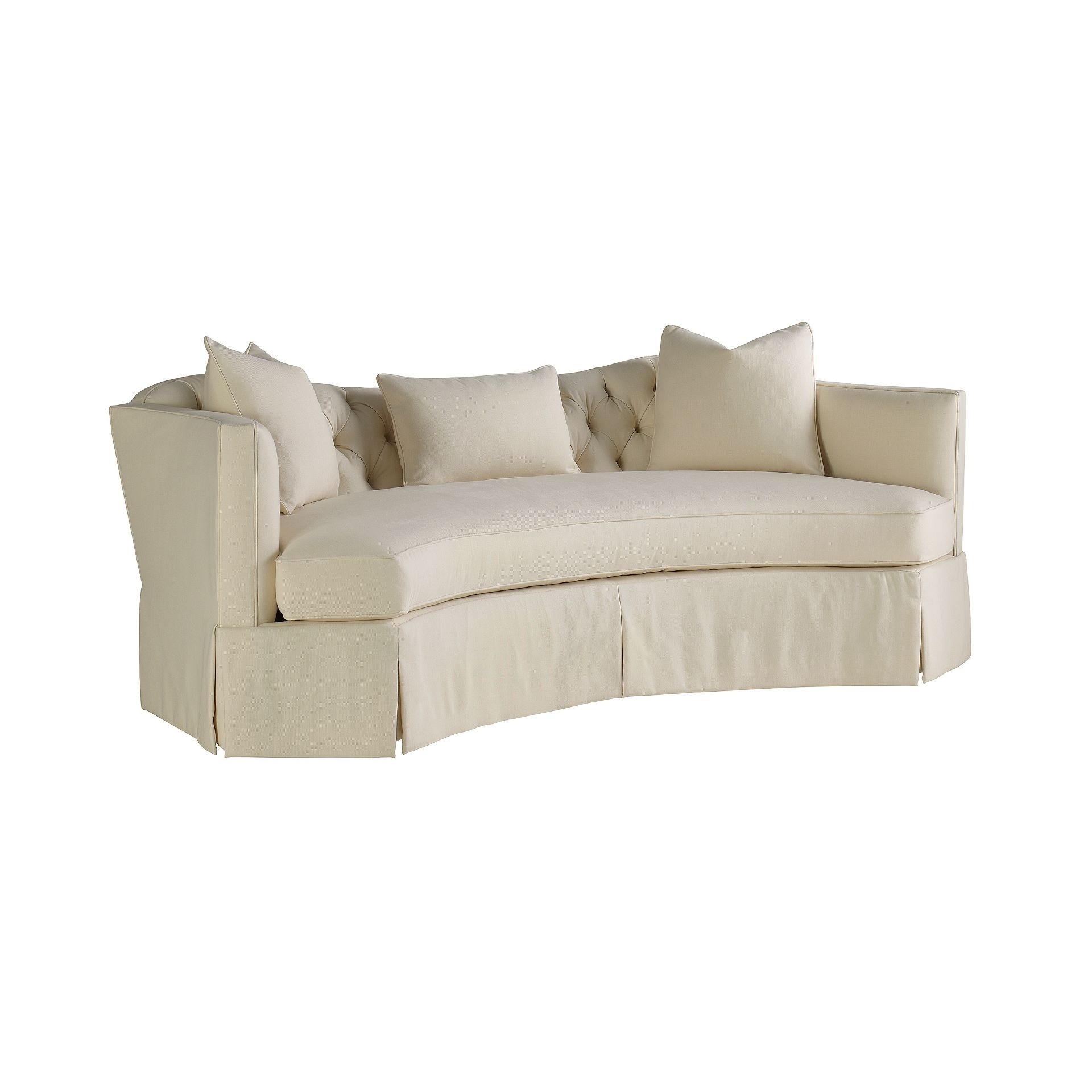 Henredon Furniture Celerie Kemble For Henredon Serpentine Short Sofa H1301 B