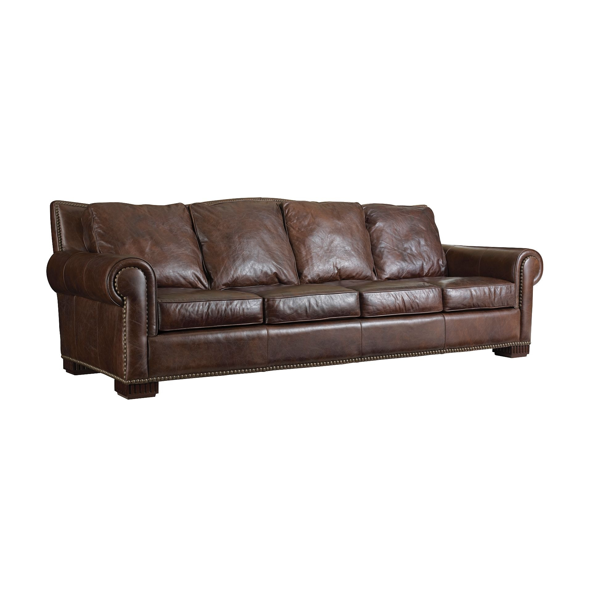Henredon Furniture Henredon Leather Company Aberdeen Sofa IL7701 C