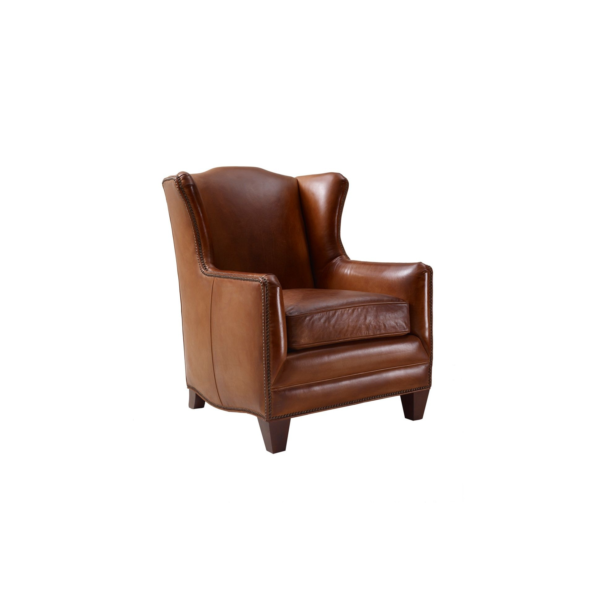 Henredon Furniture Henredon Leather Company Badin Chair Il7737