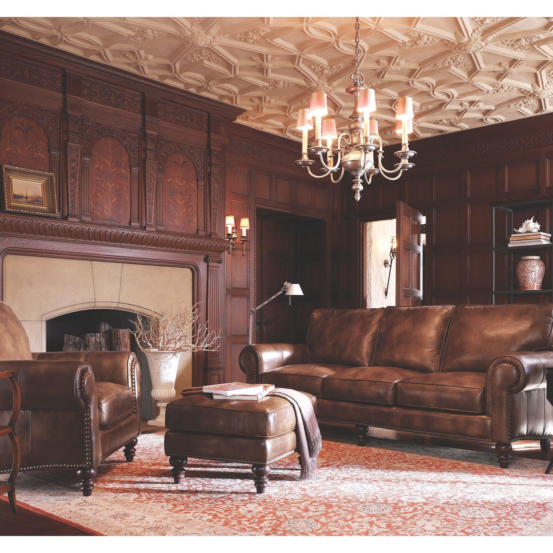 Henredon Furniture Henredon Leather Company Austin Sofa IL7742-C  sc 1 st  Goodu0027s Home Furnishings & Henredon Furniture IL7742-C Living Room Henredon Leather Company ... islam-shia.org