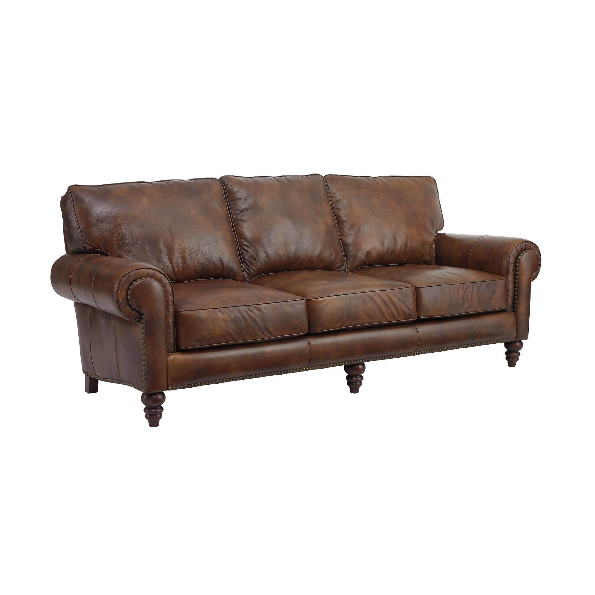 Henredon Furniture Henredon Leather Company Austin Sofa IL7742 C