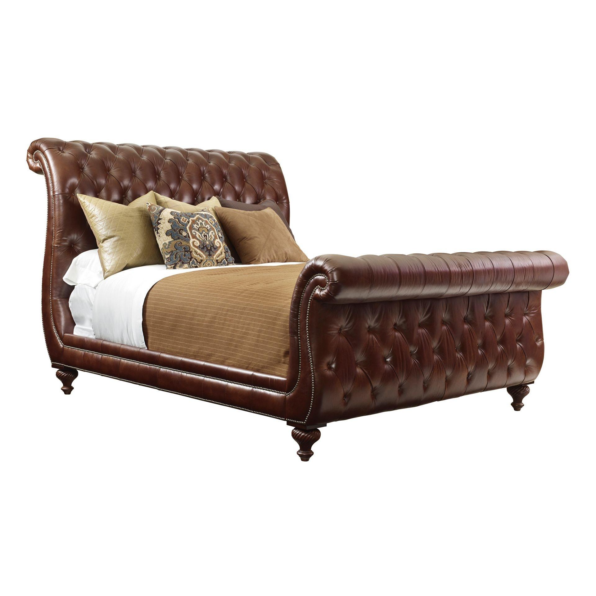 Henredon Furniture Henredon Leather Company Churchill King Bed Henredon  Furniture IL8826 12