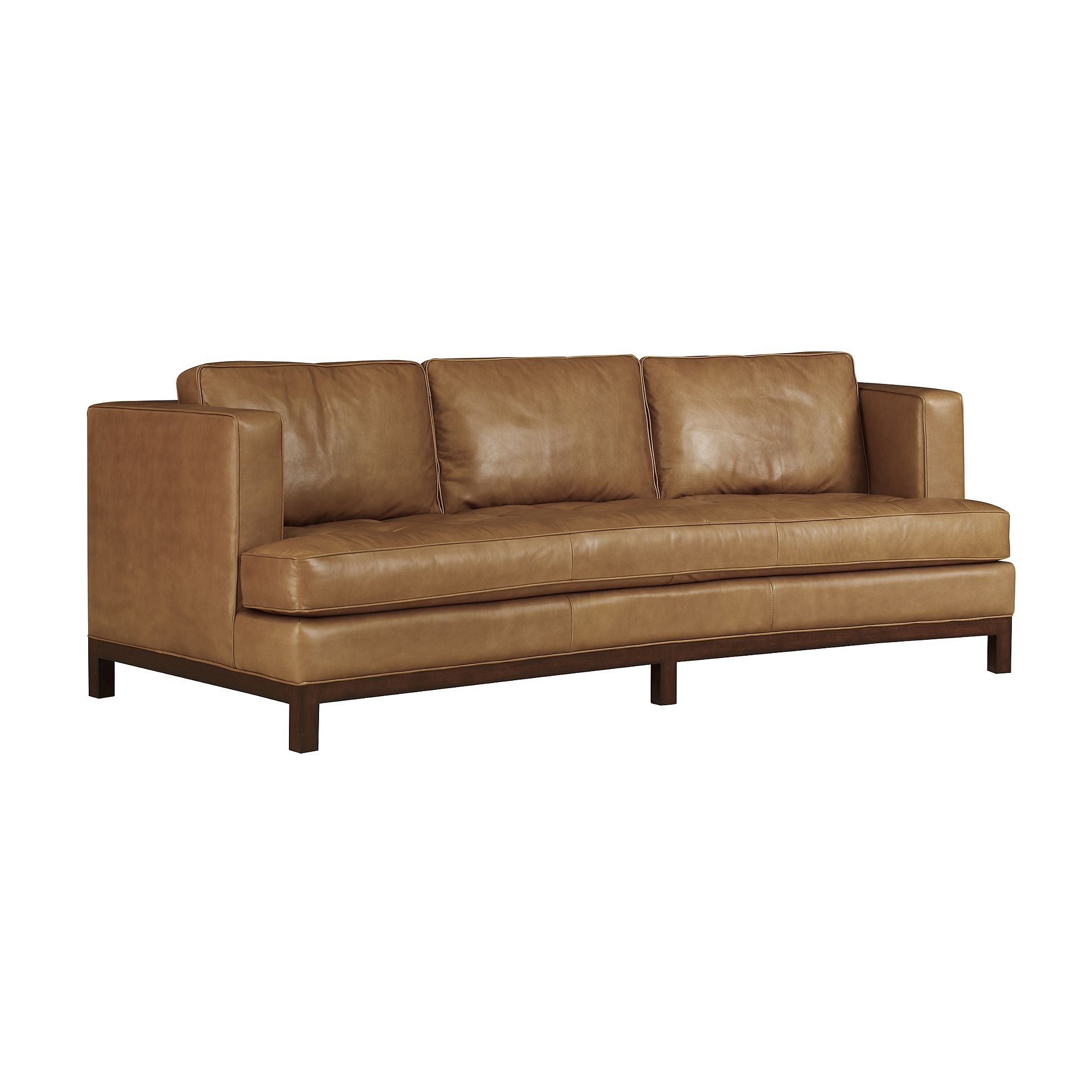 Henredon Furniture Henredon Leather Company Crescent Sofa IL8834 C