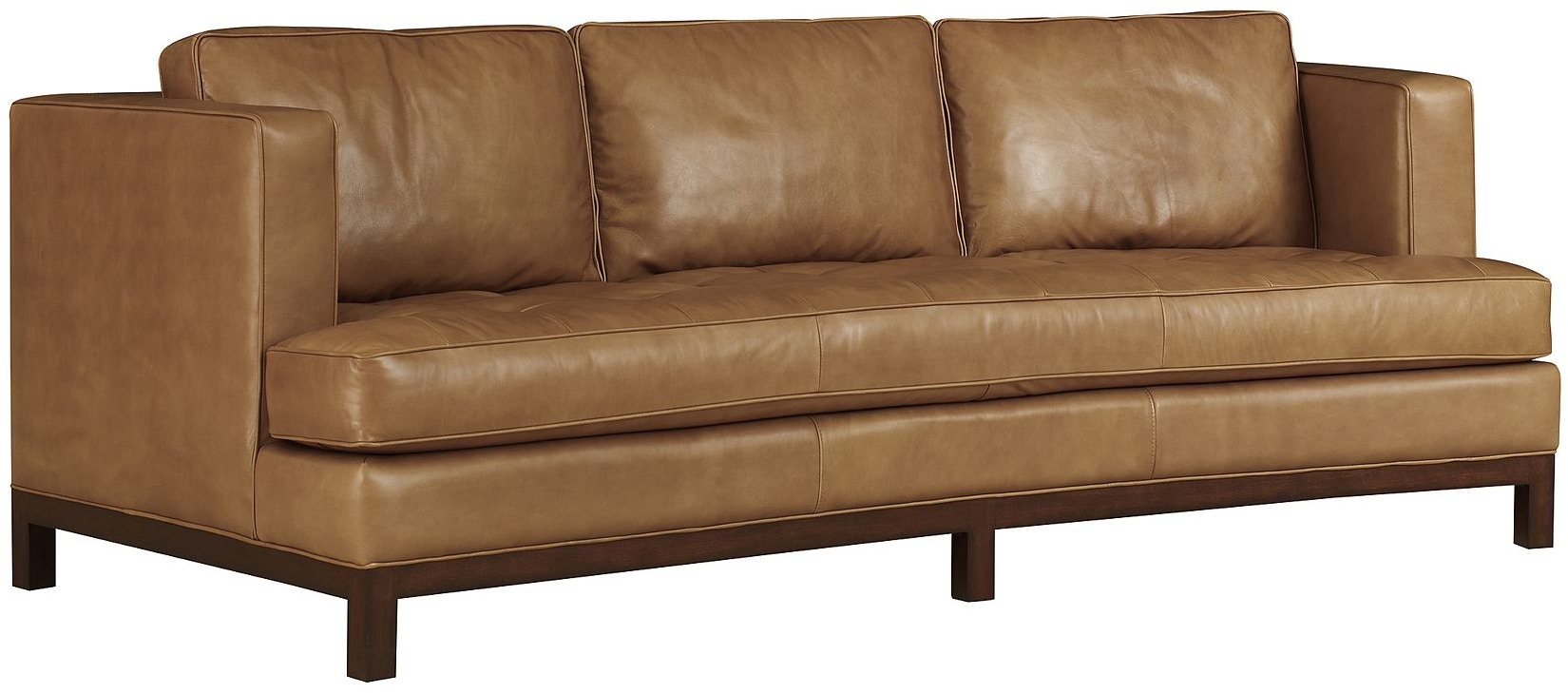 Henredon Furniture Il8834 C Living Room Henredon Leather Company Crescent Sofa