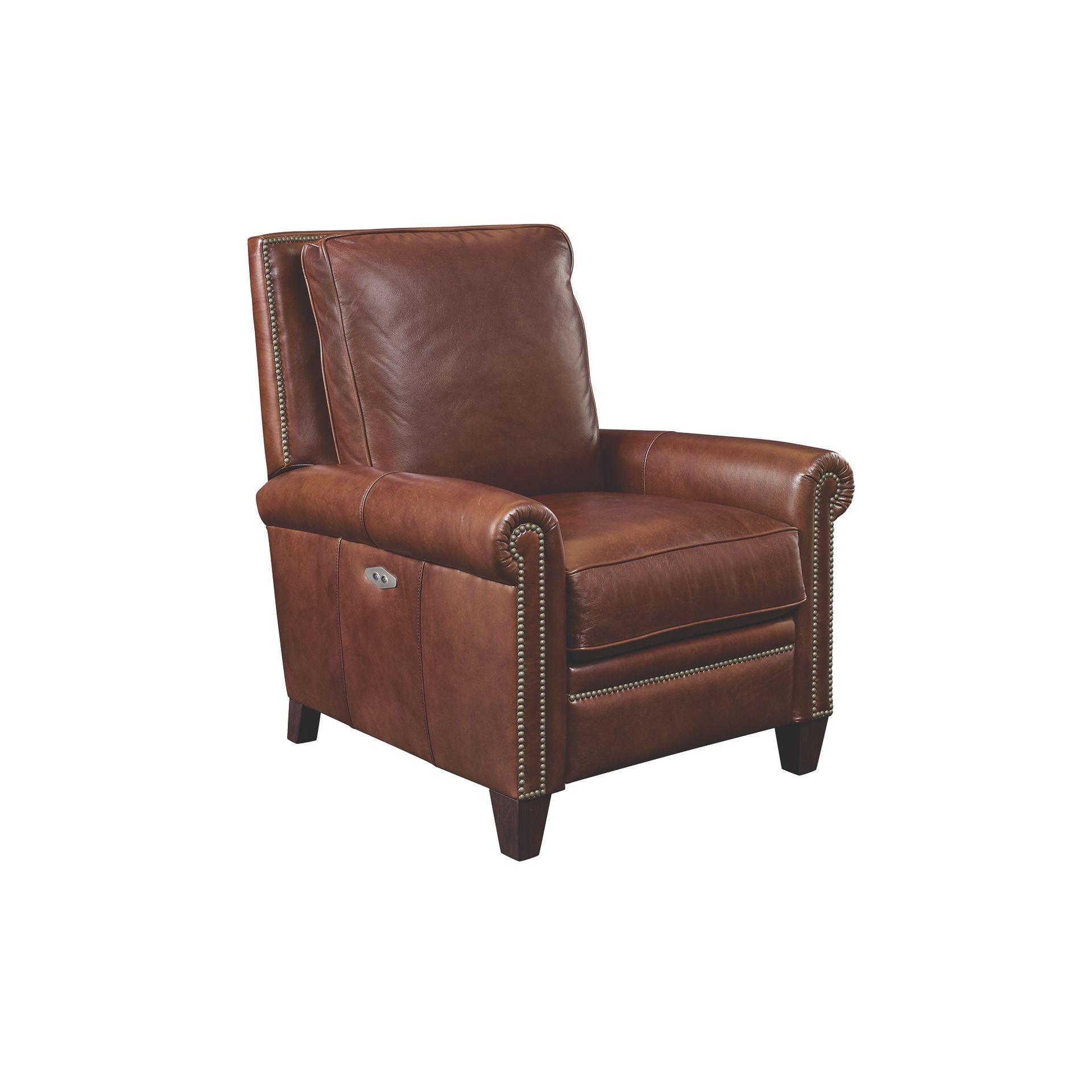 Superieur Henredon Furniture Henredon Leather Company Lugano Power Recliner IL8883 RE