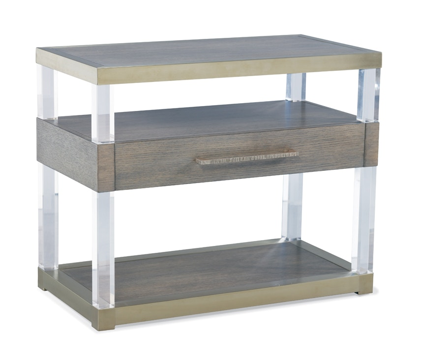 acrylic bedroom furniture. Hickory White Furniture Argon Acrylic Night Stand 215-71 Acrylic Bedroom Furniture B