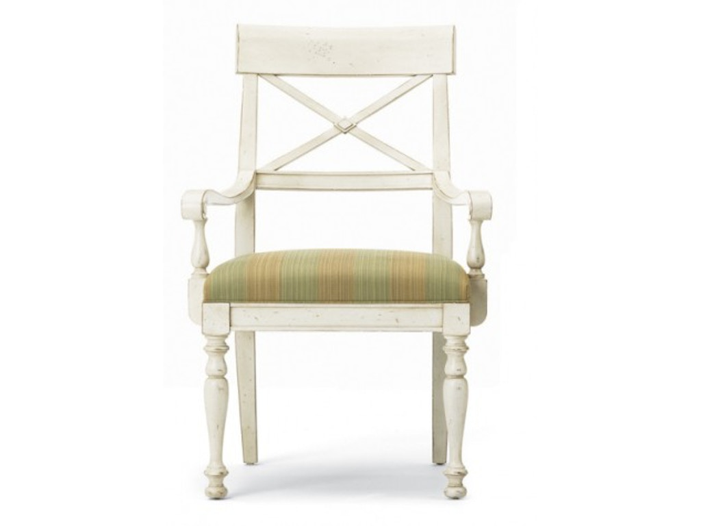 Hickory White Furniture Dining Room X Back Arm Chair 231