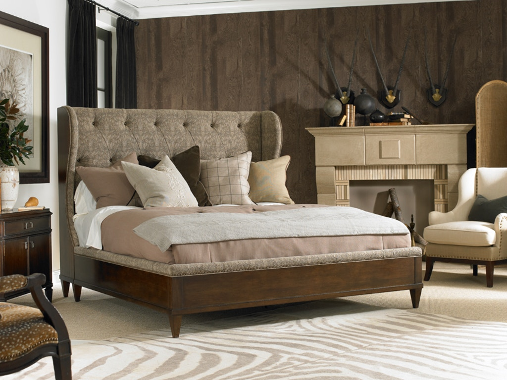 Hickory White Furniture Bedroom Whitman Wing Bed -  hickory bedroom furniture