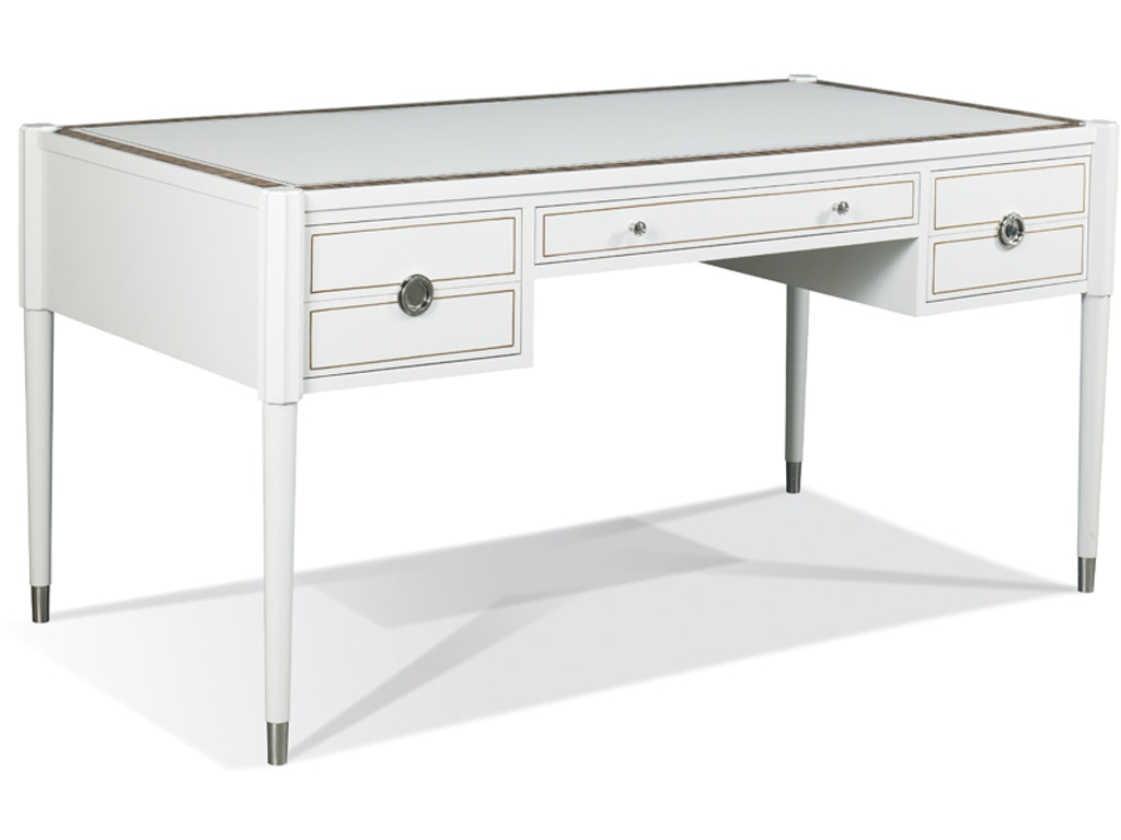Hickory white furniture 903 52 ll home office eliot for Table induction 71 x 52