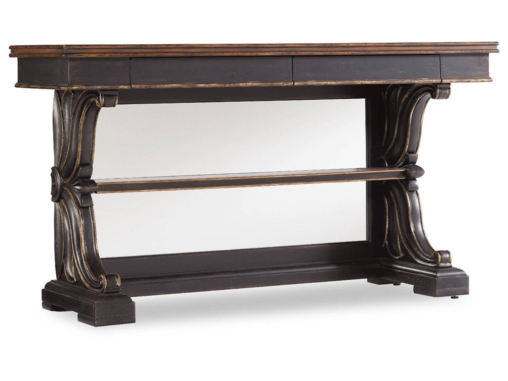Hooker Furniture Grandover Mirrored Back Console 5029 50003