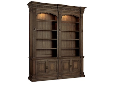 Hooker Furniture Rhapsody Double Bookcase (w/out ladder & rail) 5070-10226