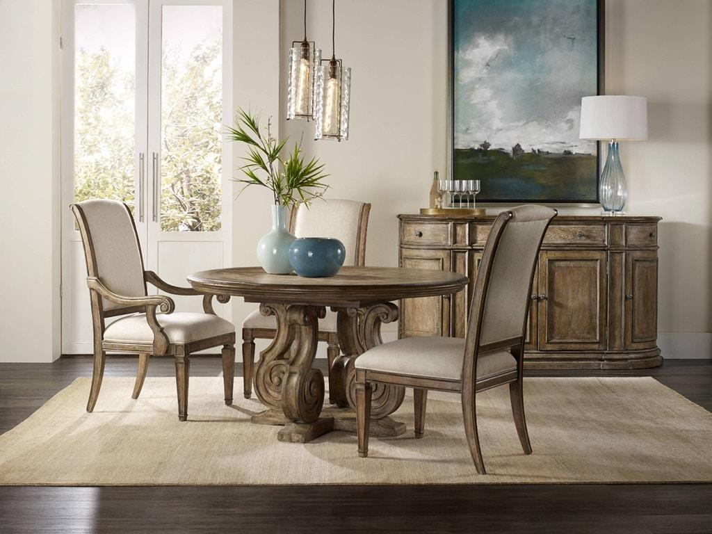 Hooker Furniture Solana 54in Pedestal Dining Table W/1 20in Leaf 5291 75203