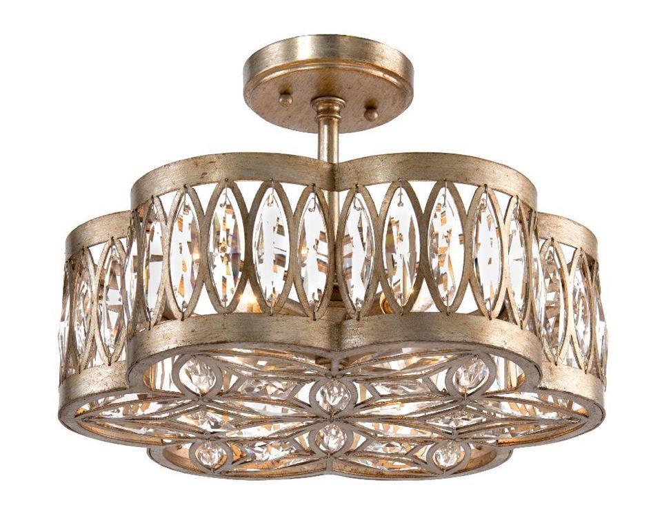 John Richard AJC8792 Lamps and Lighting Six Light Diamante SemiFlush