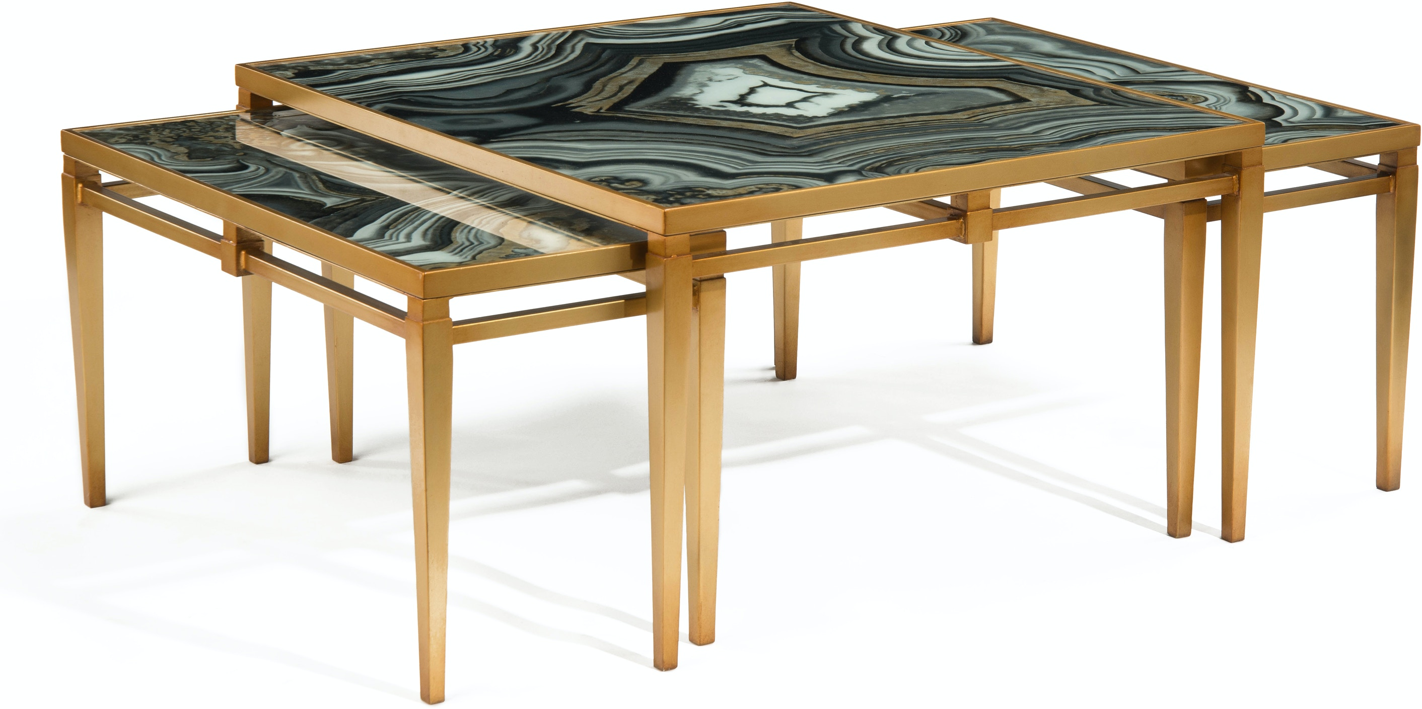John Richard EUR 03 0527 Living Room Agate Cocktail Tables