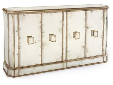 John Richard Juno Foxed Mirror 4 Door Credenza EUR-04-0169