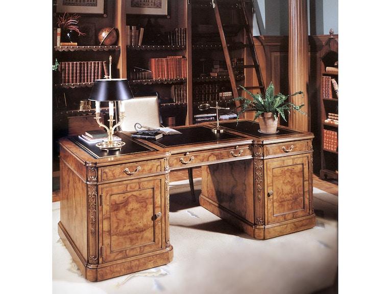 Karges Furniture 486 Home Office French Regence Double Pedestal Desk