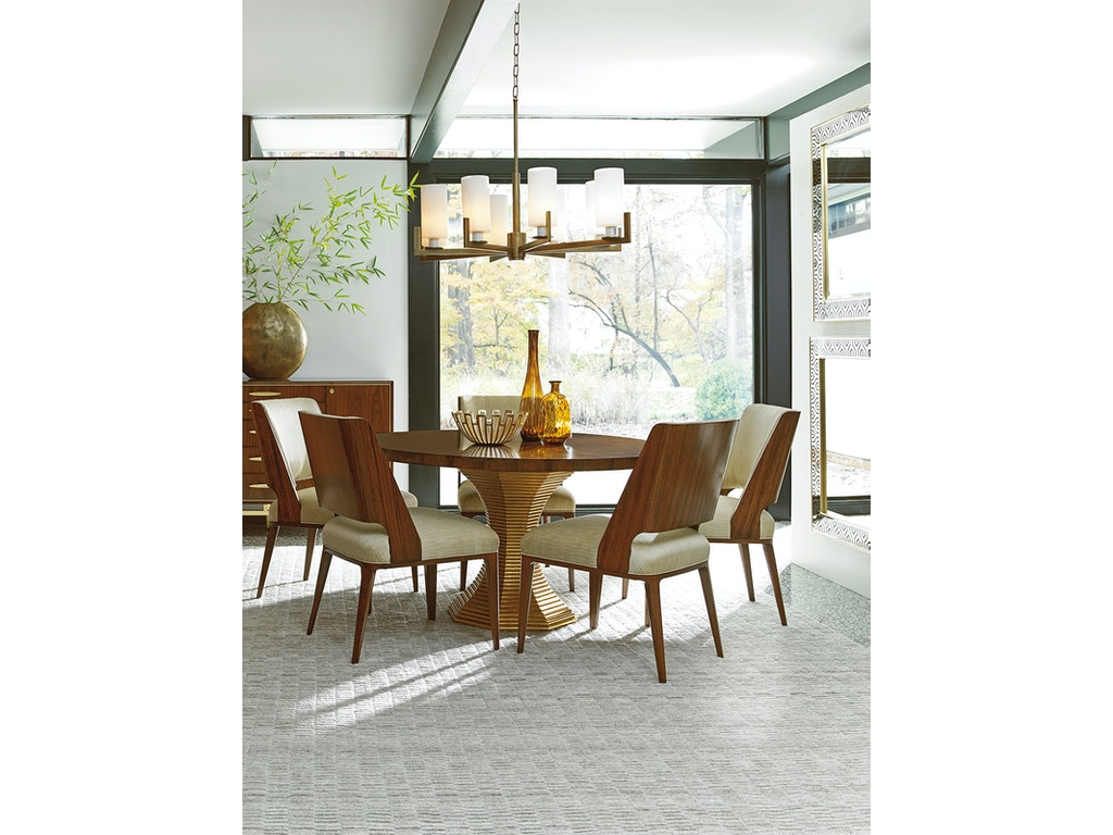 Lexington furniture dining room take five regency round for Lexington furniture