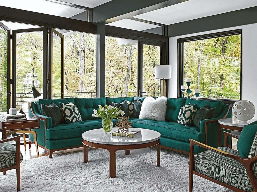 Lexington furniture 7577 sectional living room take five for Good furniture brands for living room furniture
