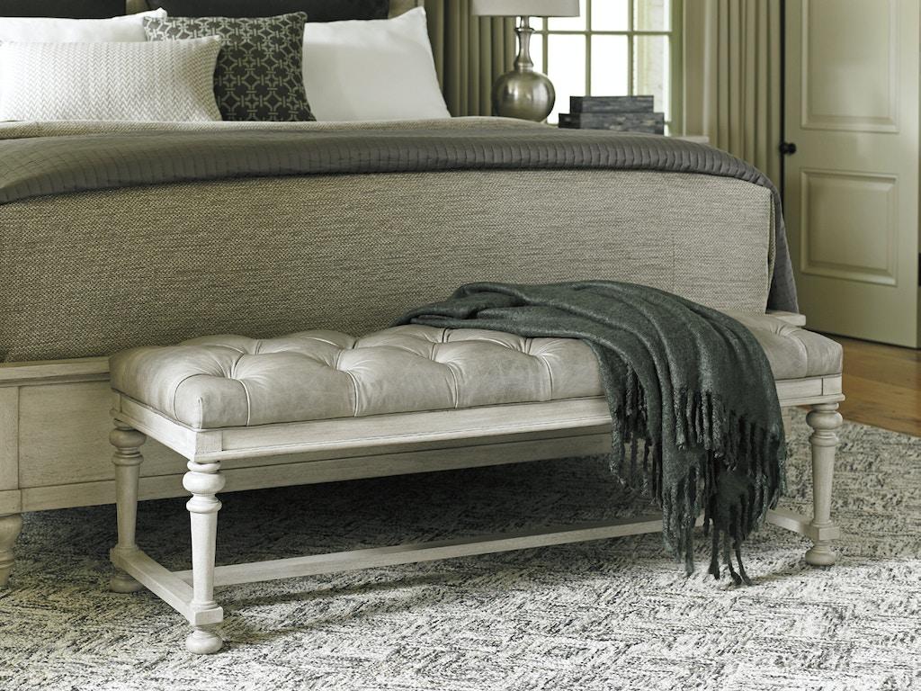 Oyster Bay Bedroom Furniture Lexington Furniture Bedroom Oyster Bay Bellport Leather Bed Bench