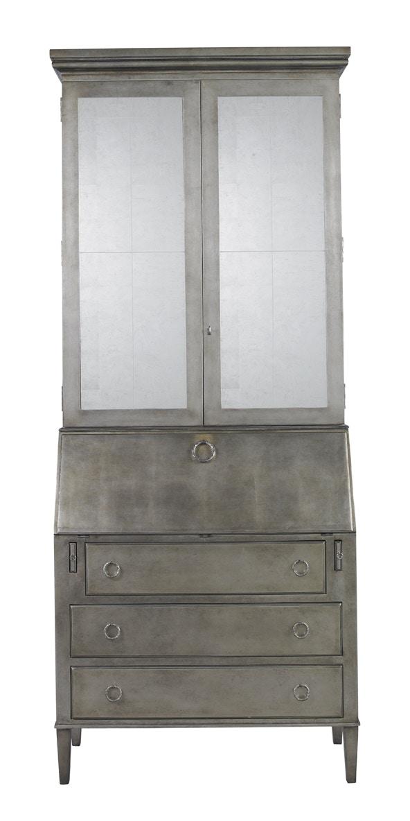 Lillian August Furniture Leif Secretary   Silver Leaf LA92570 01