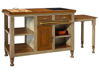 French Heritage Gourmet Kitchen Island M-FL39-199-GRY