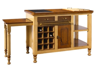 French Heritage Gourmet Kitchen Island M-FL39-199-IVO