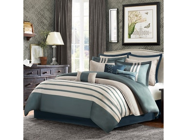 Hampton Hill Bedding Harlem 12 Piece Comforter Set - Queen BB10-1090