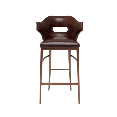 Rubbed Bronze Finished Metal Barstool