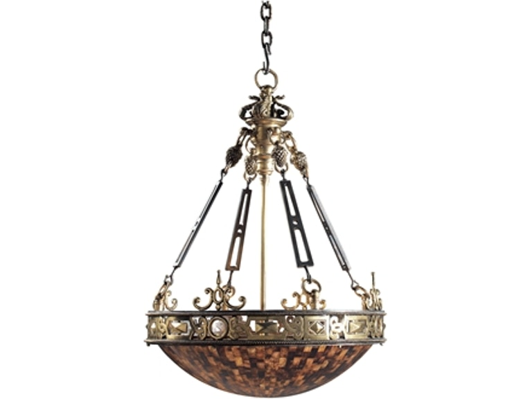 Maitland Smith Finely Cast Brass Iron And Penshell Empire Chandelier 8120 19