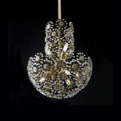 Maitland Smith Soft Finished Brass Chandelier with Crystal Beading Floral Decor 1954-361  sc 1 st  Goodu0027s Home Furnishings & Lamps and Lighting Maitland Smith Chandeliers - Goods Home ... azcodes.com