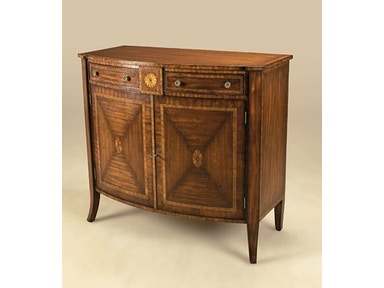 Maitland Smith Aged Regency Finished Veneered Bowfront Chiffonier Marquetry Detail Pompeian Br Accents