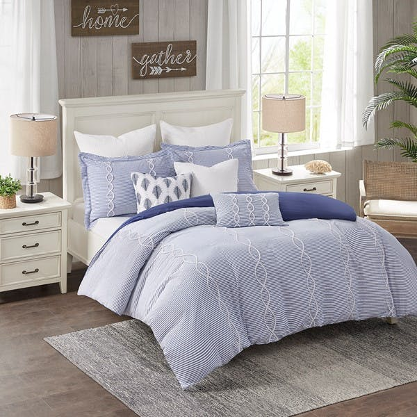 Hampton Hill Bedding Mps10 440 Bedroom Coastal Farmhouse Comforter Set