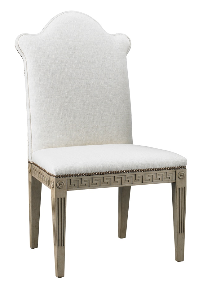 Mr. U0026 Mrs. Howard Greek Key Armless Chair H308AC
