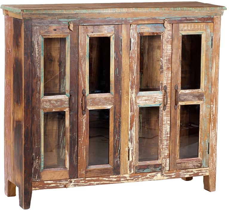 Dovetail Furniture Nantucket 4 Glass Door Sideboard NE382