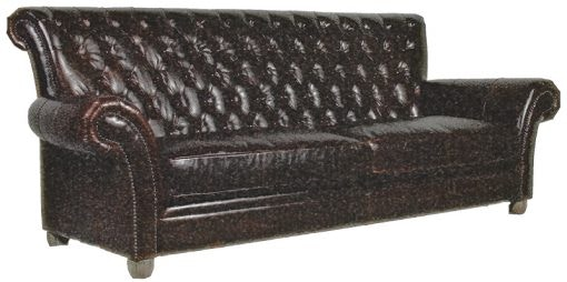 Bespoke Robert Sofa Tufted Back Leather Sofa 41740F 3.5DF (New)