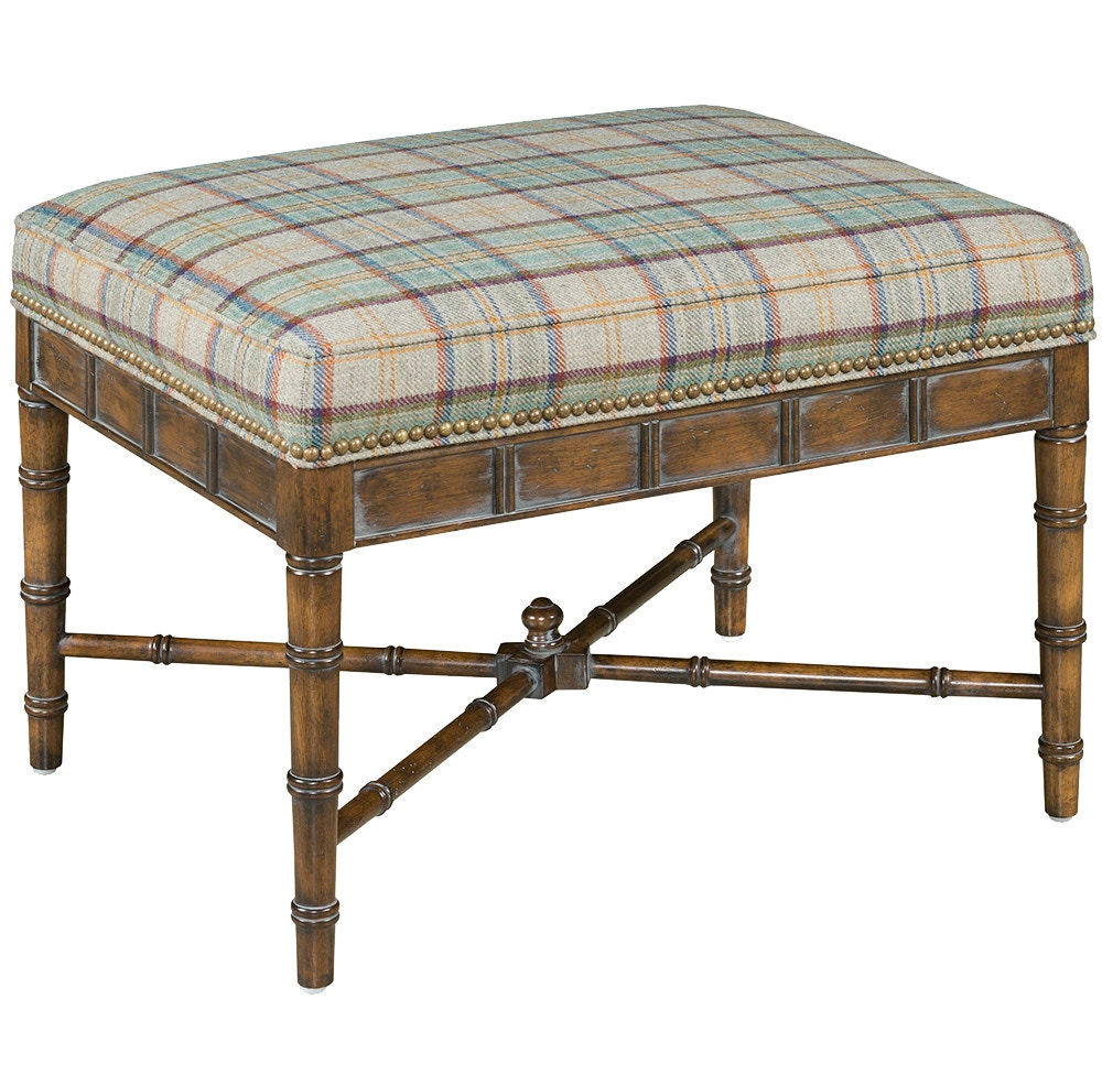Our House Designs Ottoman With Gold Nails F794 O