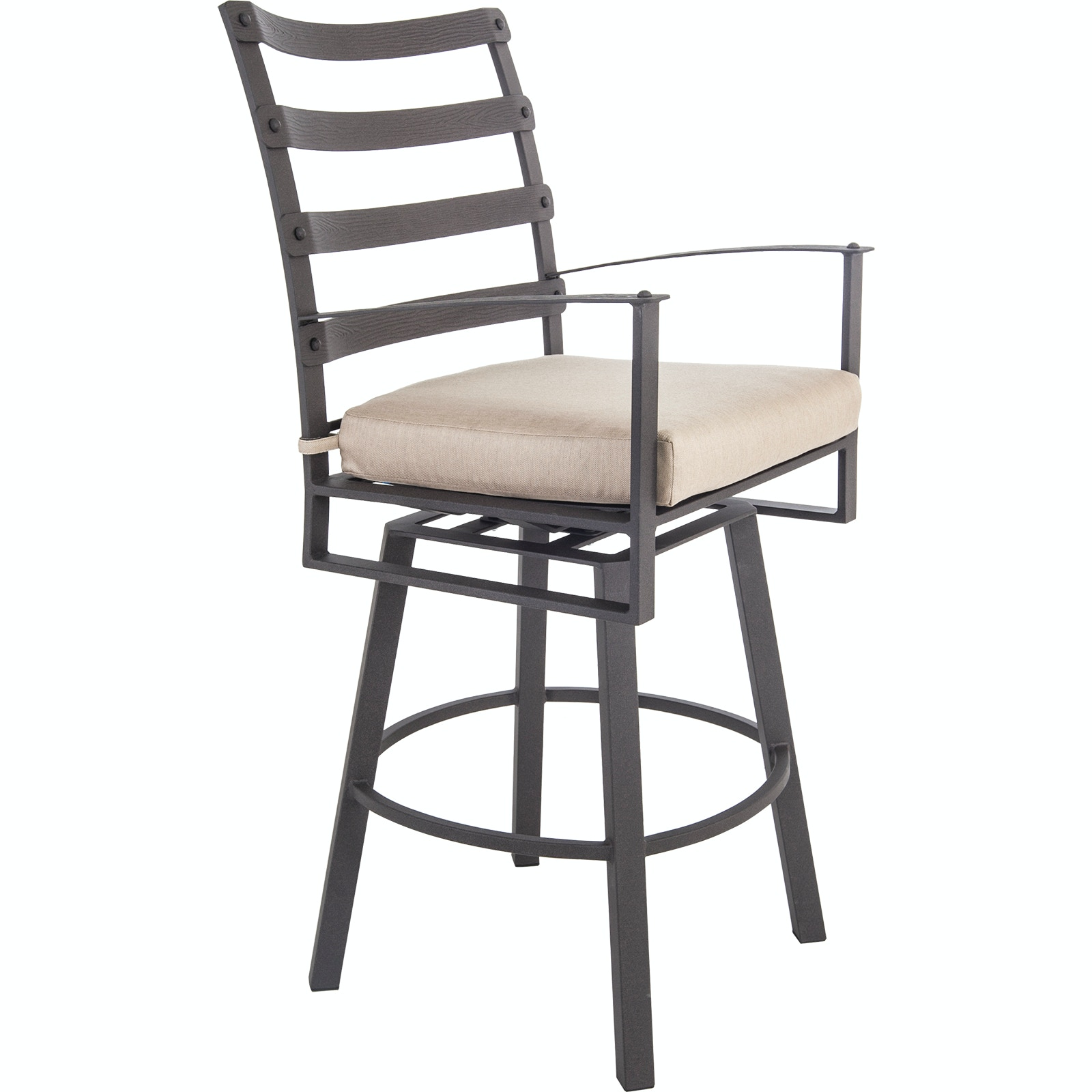 OW Lee Furniture Ridgewood Swivel Bar Stool With Arms 7353 SBS