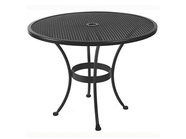 OW Lee Furniture Standard Mesh Dining Table With 2 inch Umbrella Hole 36-MU
