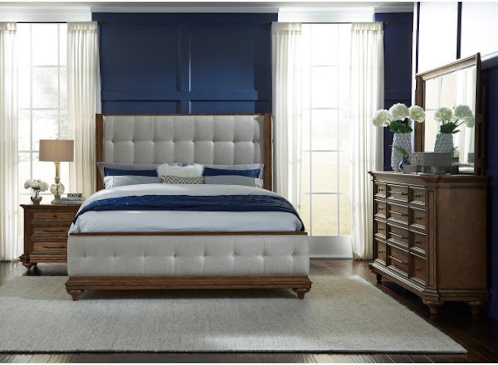 Completely new Pulaski Furniture P081170 Bedroom Carrington 5/0 Uph Bed Headboard QH42