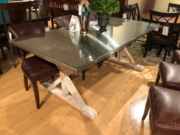 Quentin With Glass Top Dining Table
