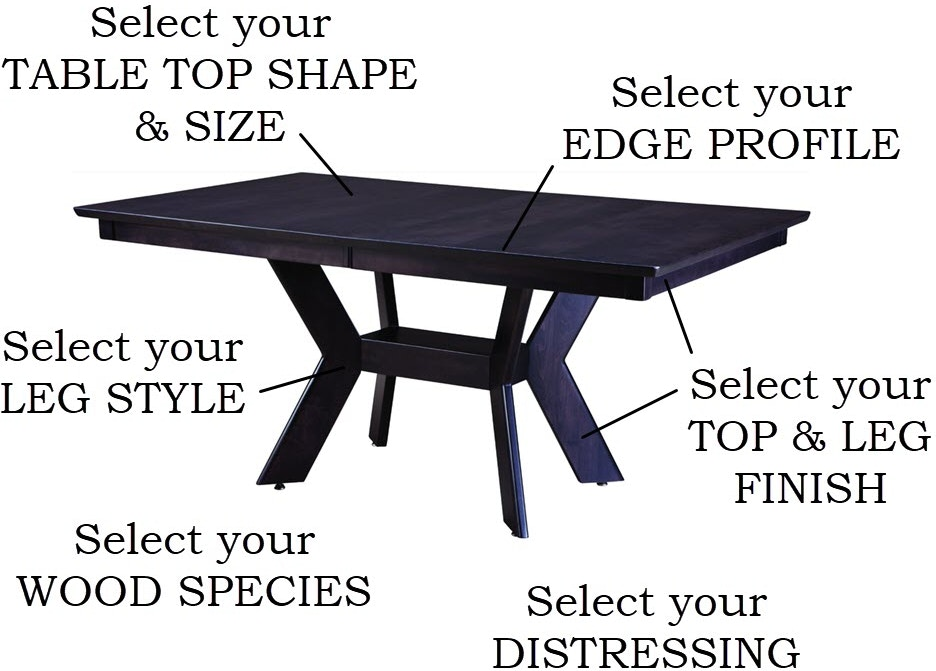Palettes By Winesburg Custom Tables Dining Room Design Your Own